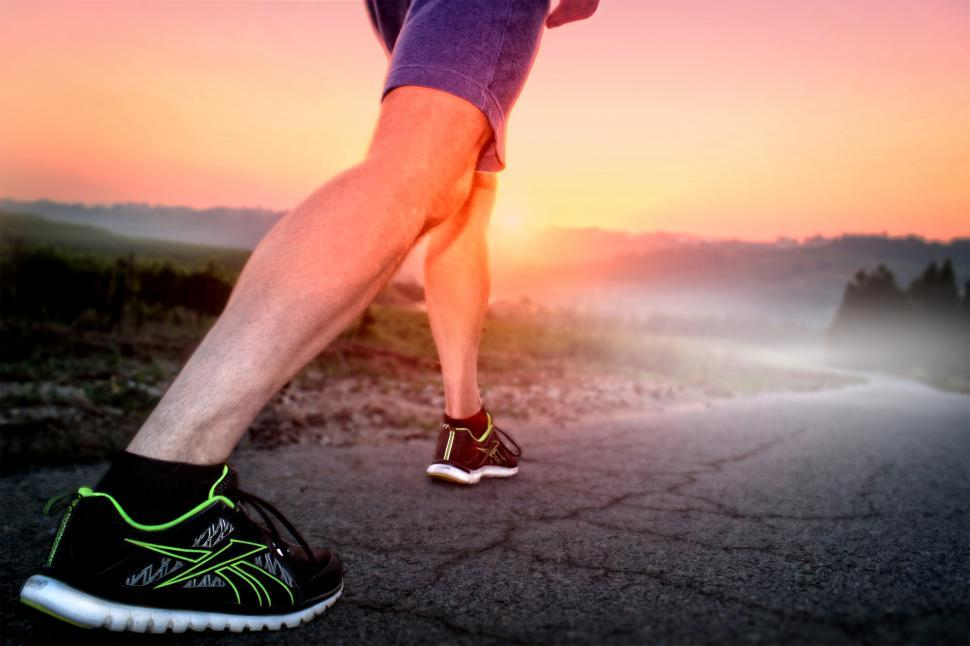 Download Free Stock HD Photo of Get Set and Go Fast - A Runner at Sunrise Online