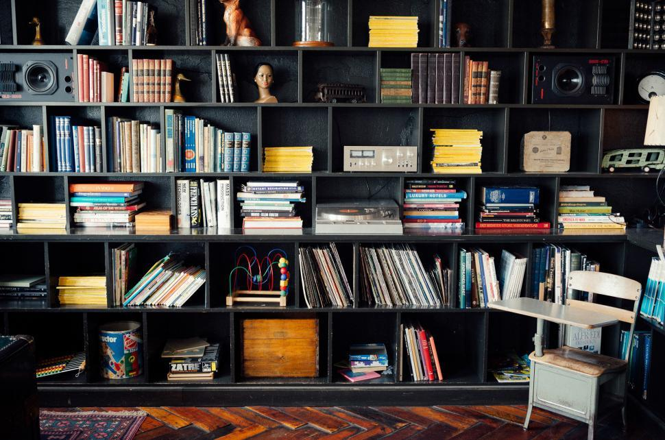 Download Free Stock Photo of bookshop bookcase shop furniture mercantile establishment collection library furnishing building place of business structure