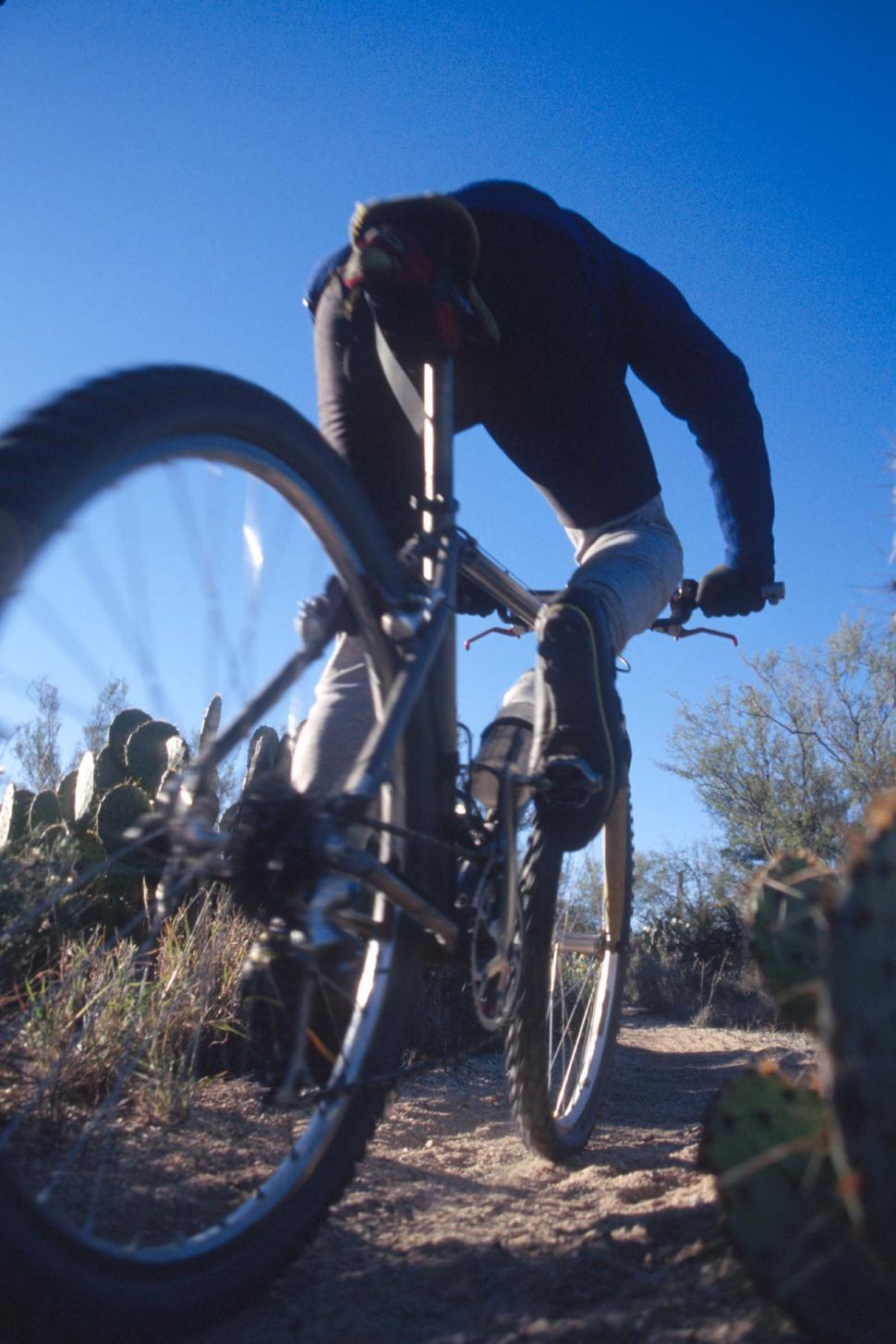 Download Free Stock HD Photo of Mountain biker Online