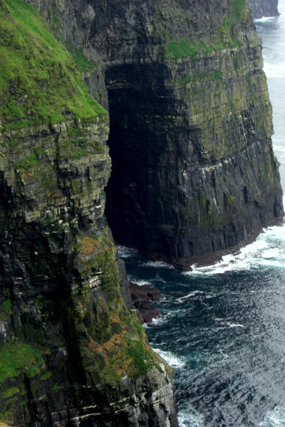 Download Free Stock Photo of A Cave at the Cliffs of Moher