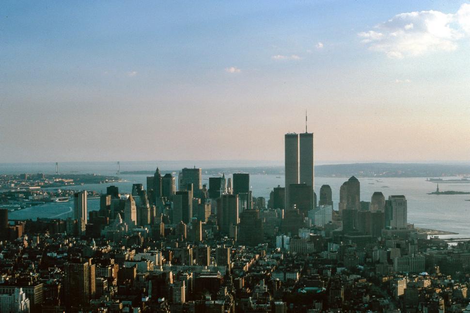 Download Free Stock Photo of New York City - Lower Manhattan pre 911