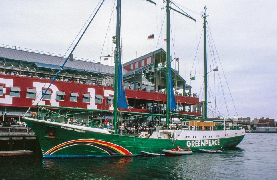 Download Free Stock Photo of Rainbow Warrior Ship