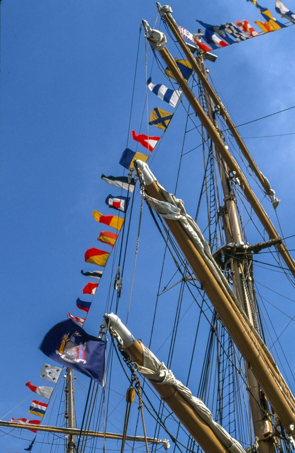 Download Free Stock HD Photo of Ship Mast Flags Online