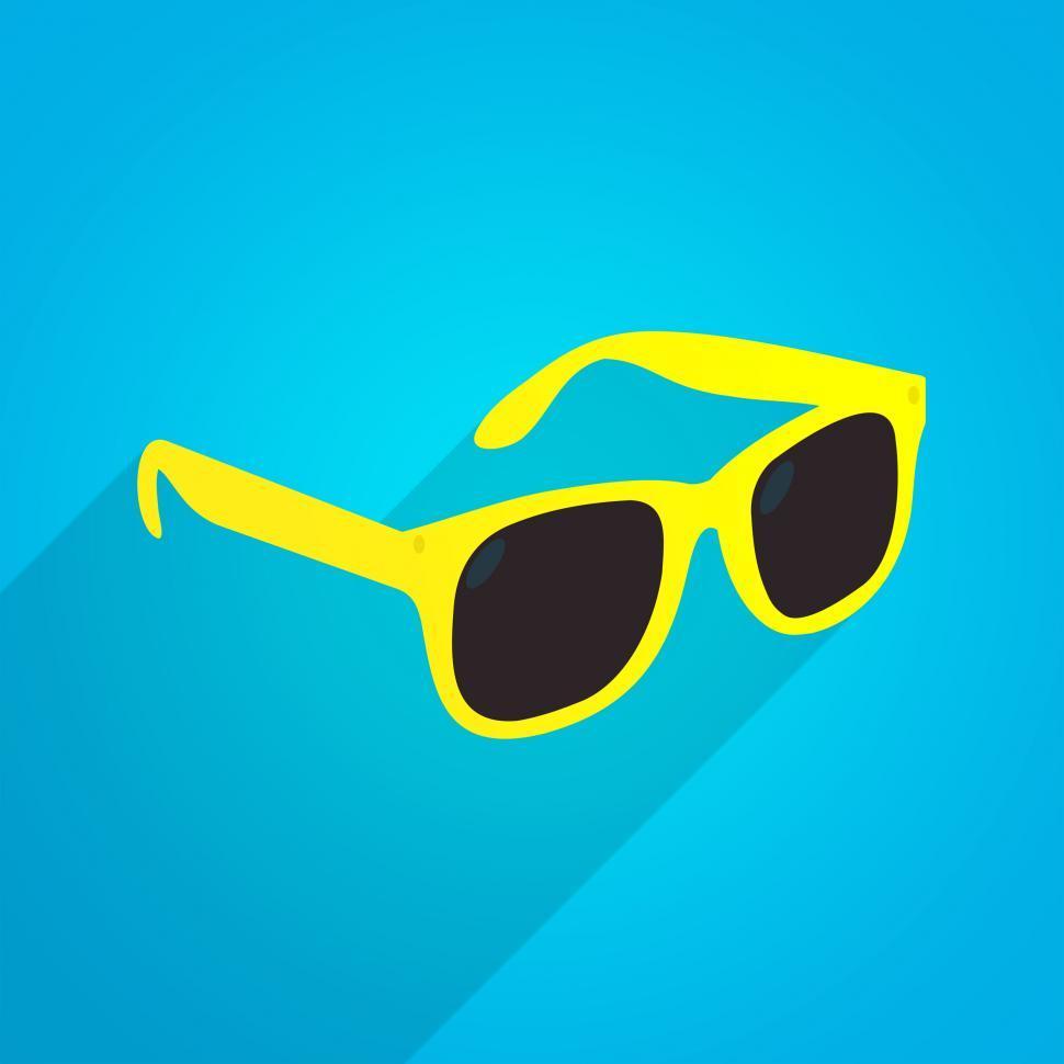 Download Free Stock Photo of Yellow Fun Sunglasses - Summer Fashion Icon