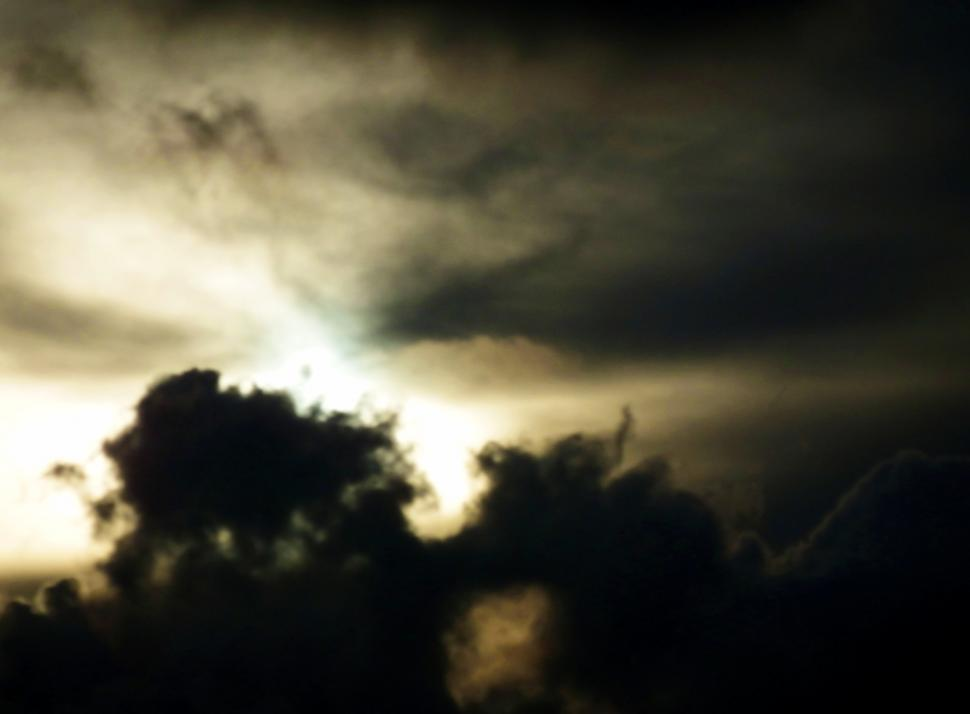 Download Free Stock Photo of Dark Clouds Stormy Sky