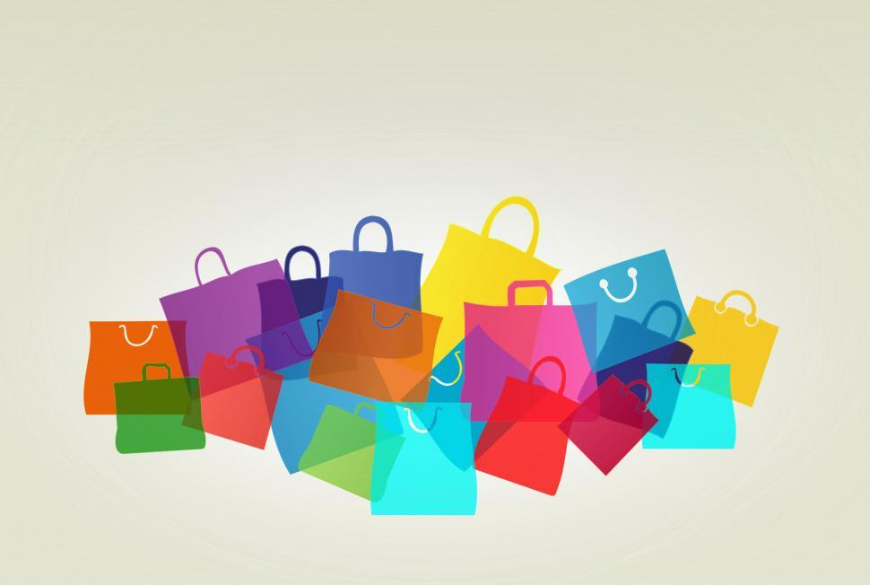 Download Free Stock Photo of Colorful Shopping and Gift Bags - With Copyspace