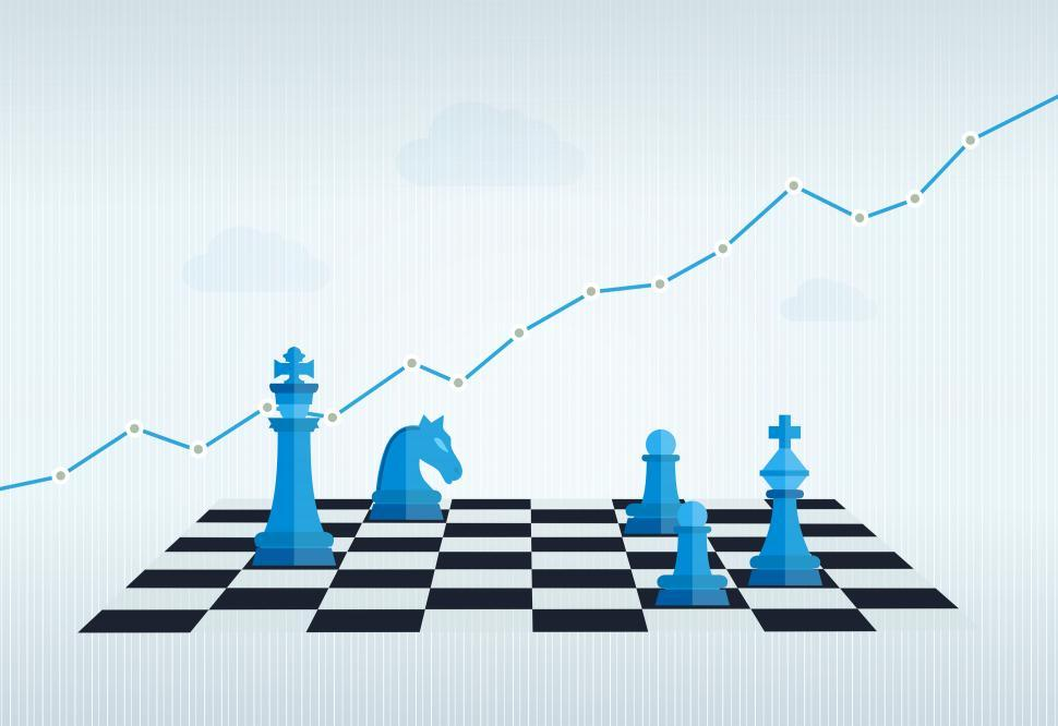 Download Free Stock HD Photo of Business Management and Strategy with Chess Set and Financial Ch Online