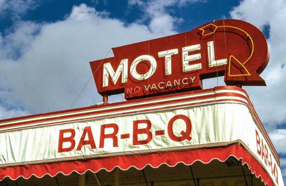 Download Free Stock Photo of Motel board