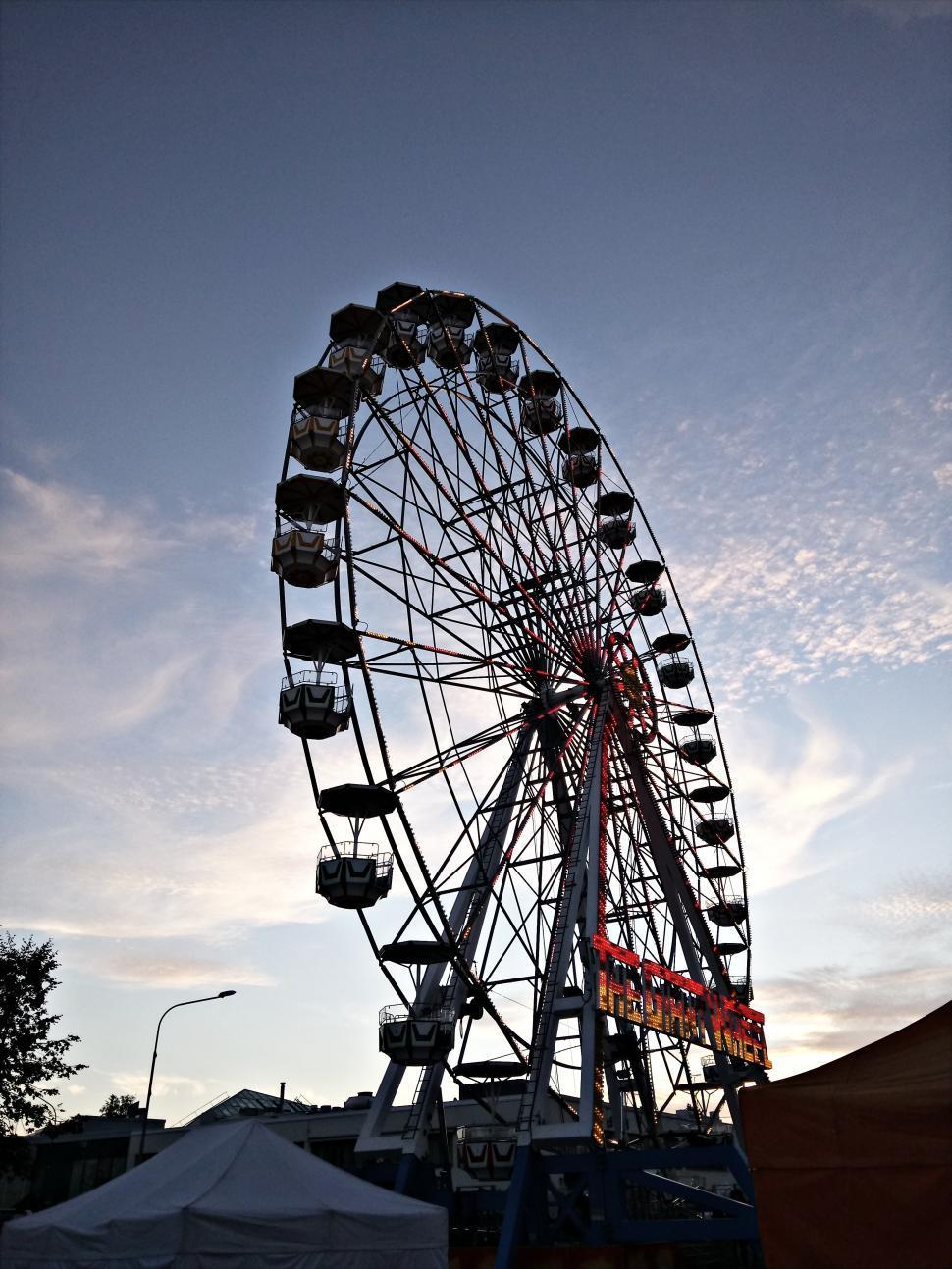 Download Free Stock HD Photo of Ferris wheel silhouette Online