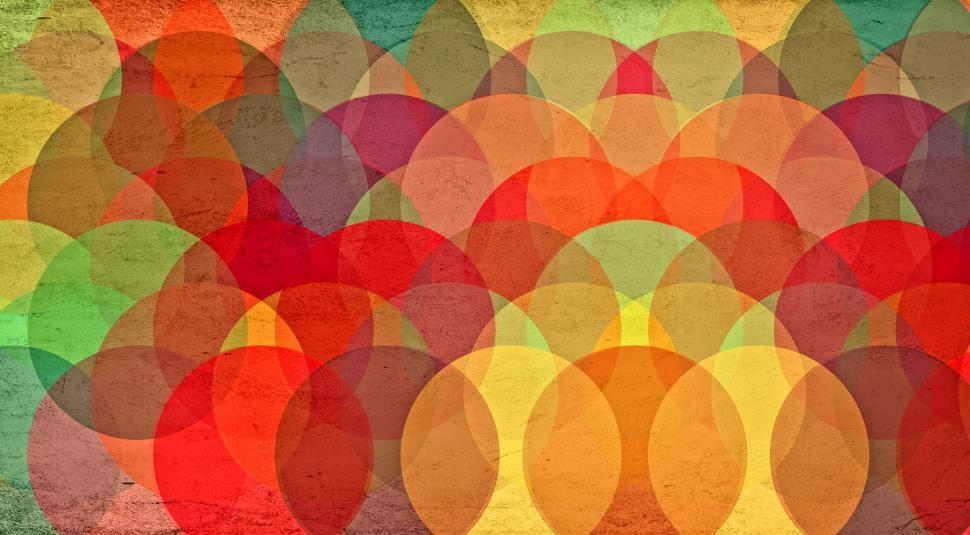 Download Free Stock HD Photo of Colorful Circles on Grunge Background - Abstract Pattern Online