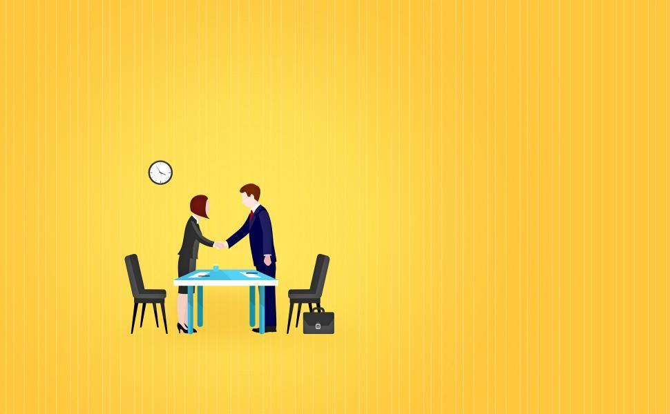 Download Free Stock Photo of Job interview - Illustration with Copyspace