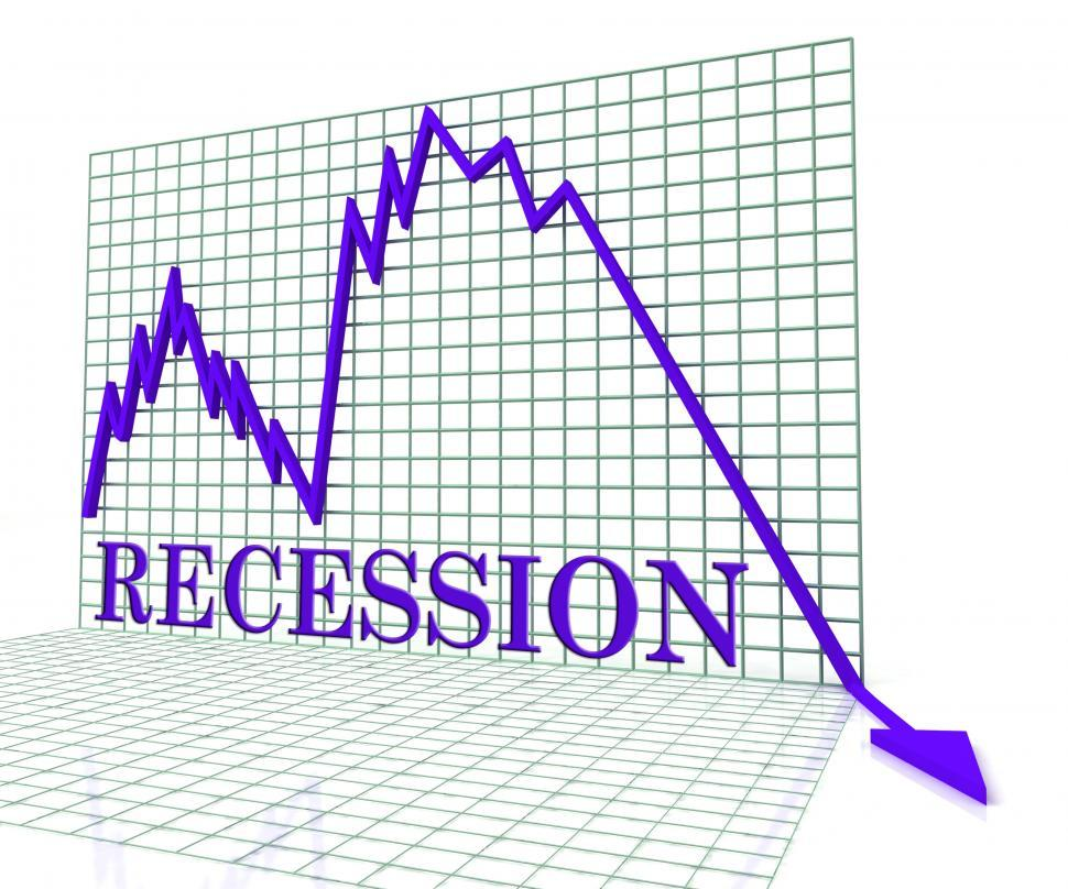 Download Free Stock Photo of Recession Graph Negative Means Economic Depression 3d Rendering