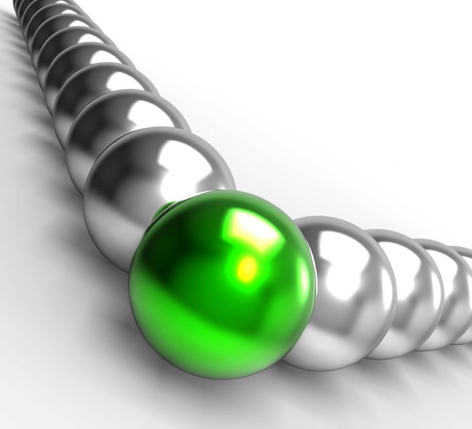 Download Free Stock Photo of Leading Metallic Balls Showing Leadership