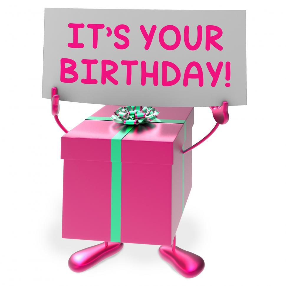 Download Free Stock Photo of Its Your Birthday Sign Means Presents and Gifts