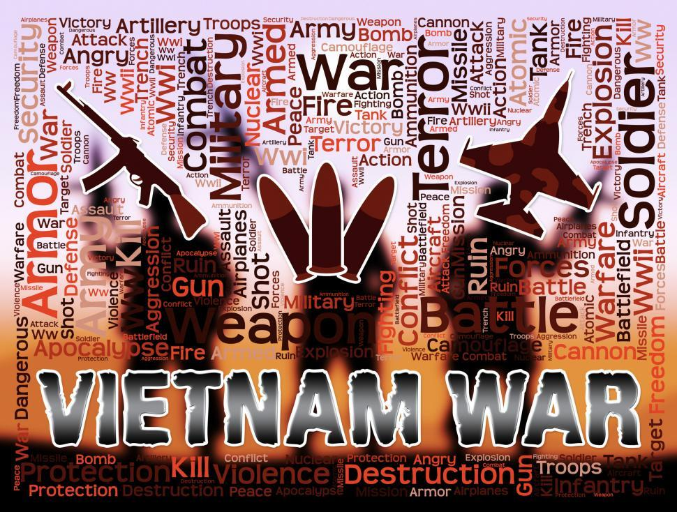 Download Free Stock Photo of Vietnam War Means Indochina military Action And Conflict