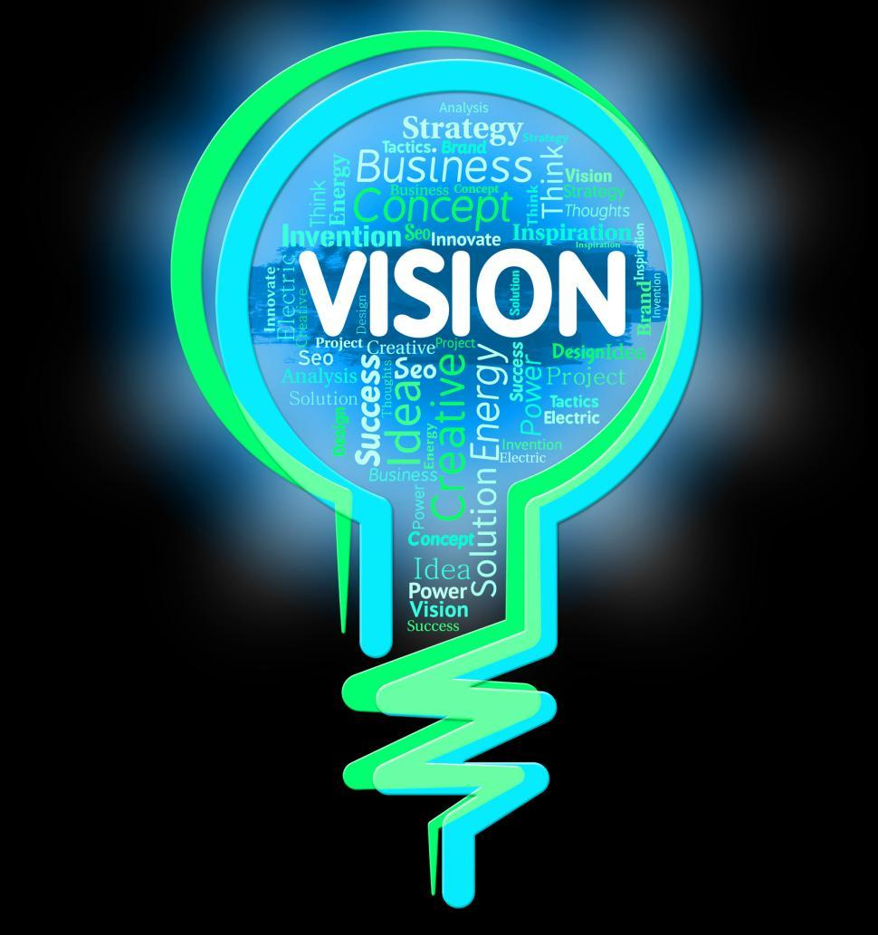 Download Free Stock HD Photo of Vision Lightbulb Shows Aspire Planning And Missions Online