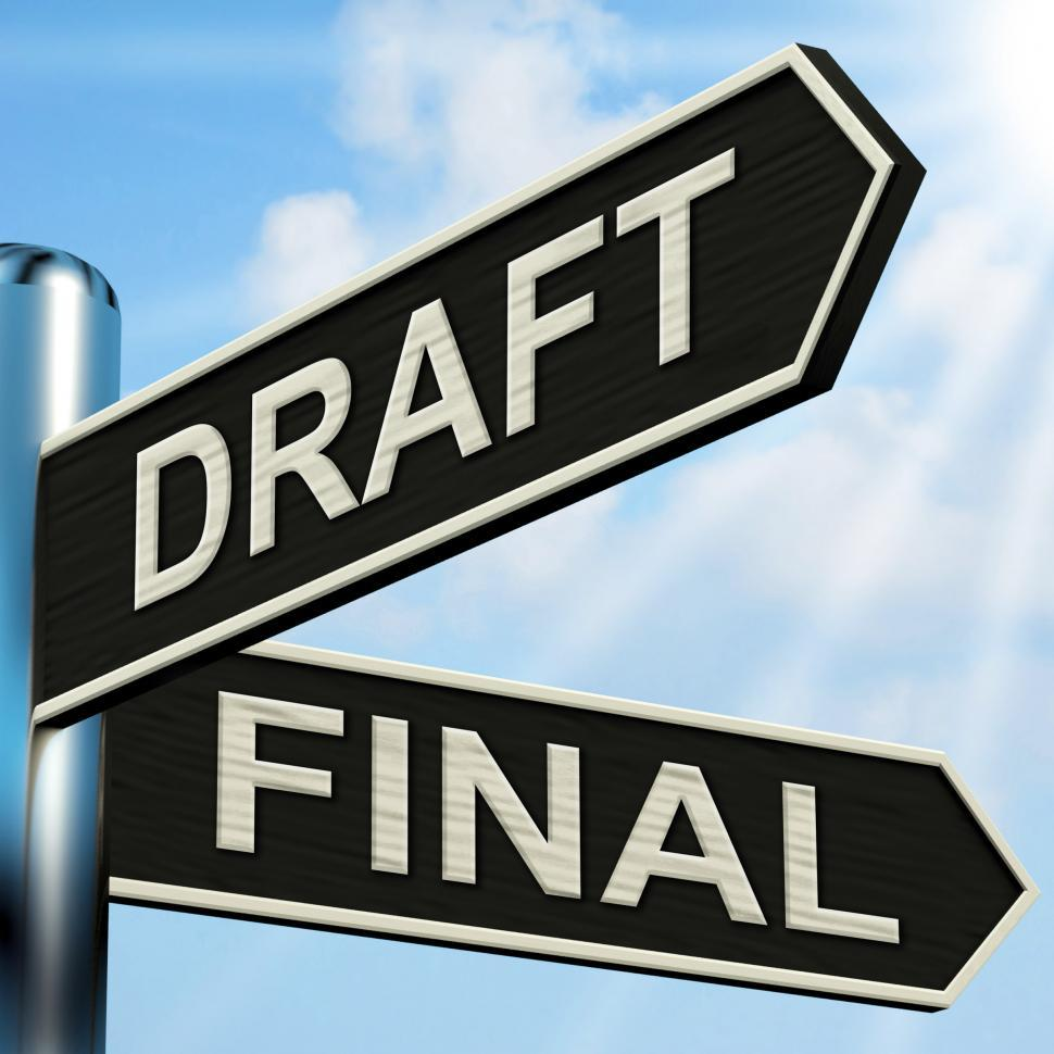 Download Free Stock Photo of Draft Final Signpost Means Writing Rewriting And Editing