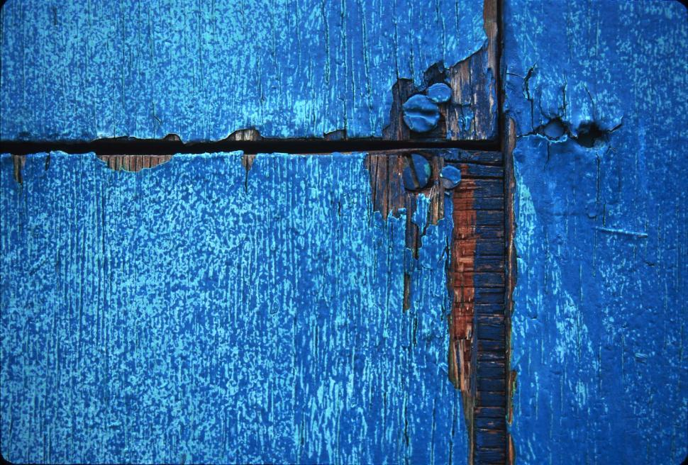 Download Free Stock HD Photo of Blue wood and paint texture Online