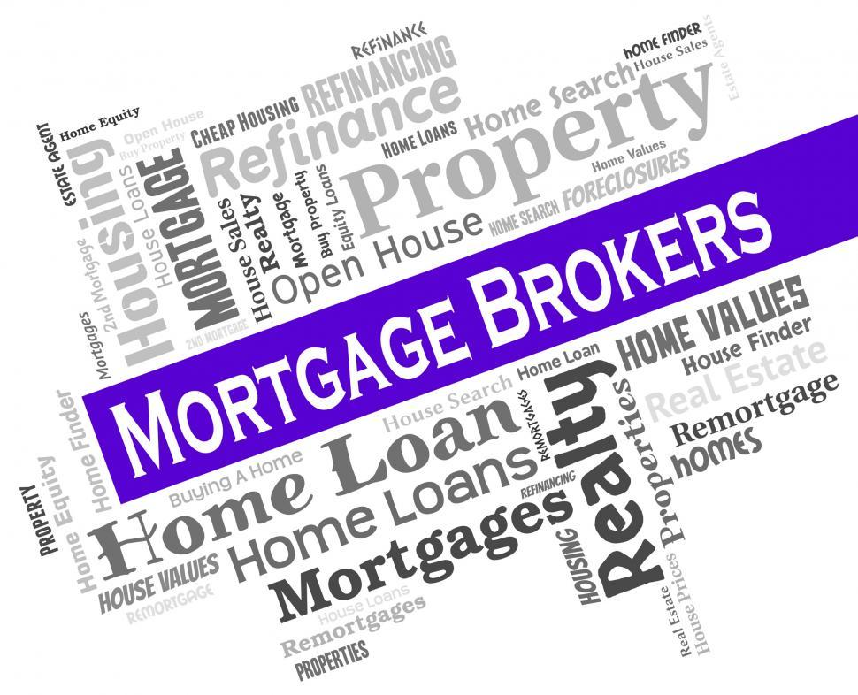 Download Free Stock HD Photo of Mortgage Brokers Represents Home Loan And Borrowing Online