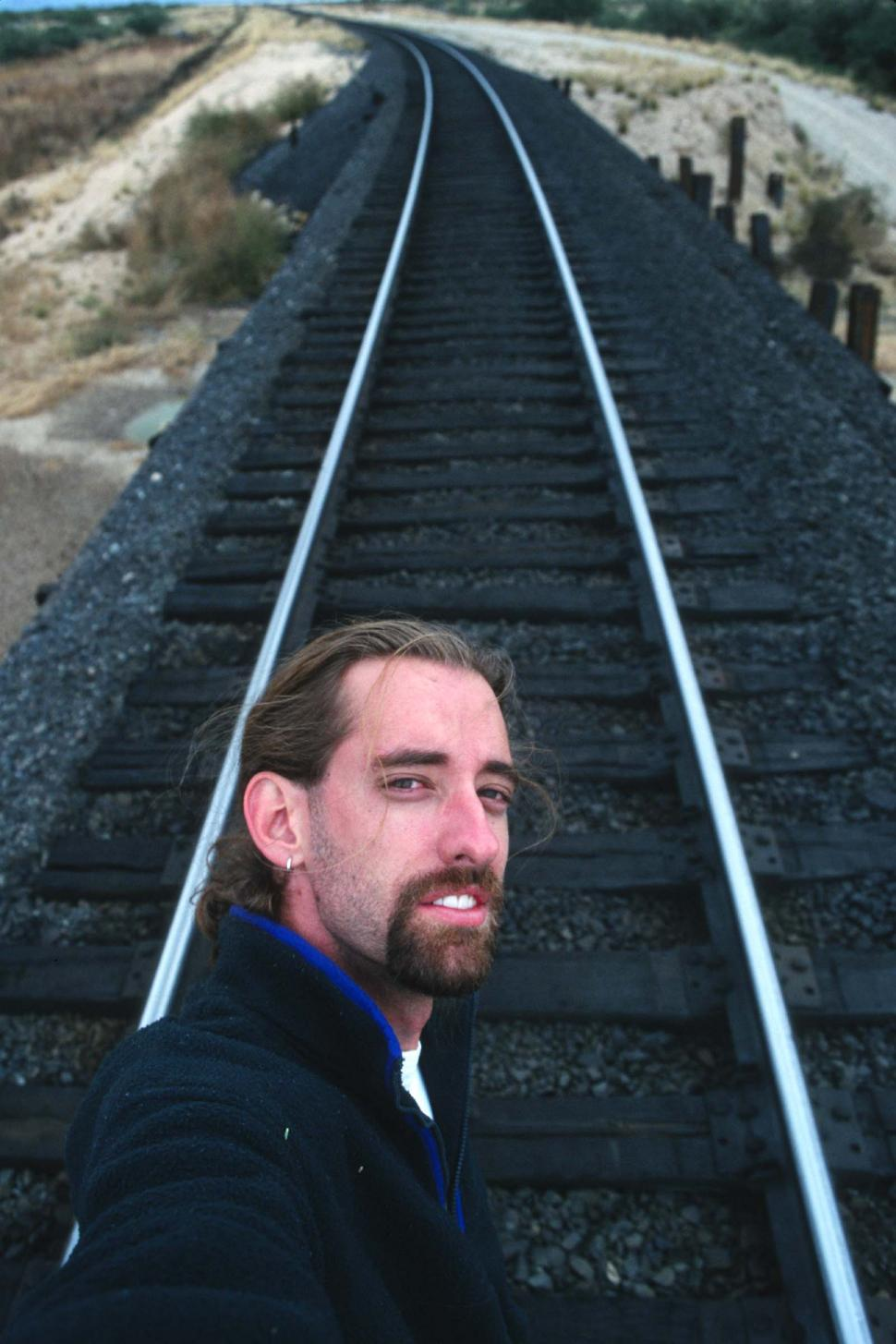 Download Free Stock HD Photo of Man on tracks Online
