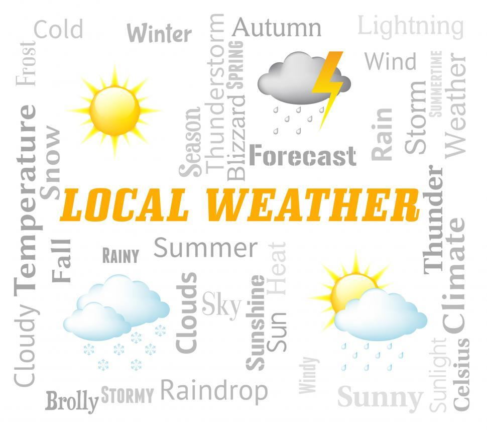 Download Free Stock Photo of Local Weather Means City Or Town Forecast