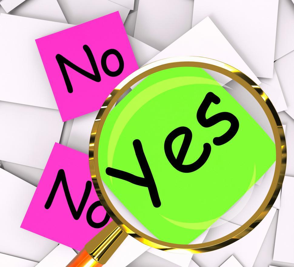 Download Free Stock HD Photo of Yes No Post-It Papers Mean Answers Affirmative Or Negative Online