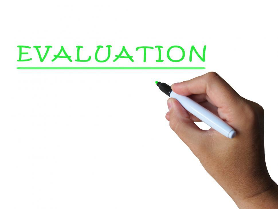 Download Free Stock Photo of Evaluation Word Means Assess Interpret And Judge