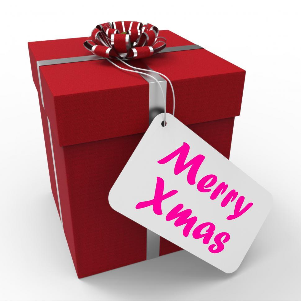 Download Free Stock Photo of Merry Xmas Gift Means Happy Christmas Greetings