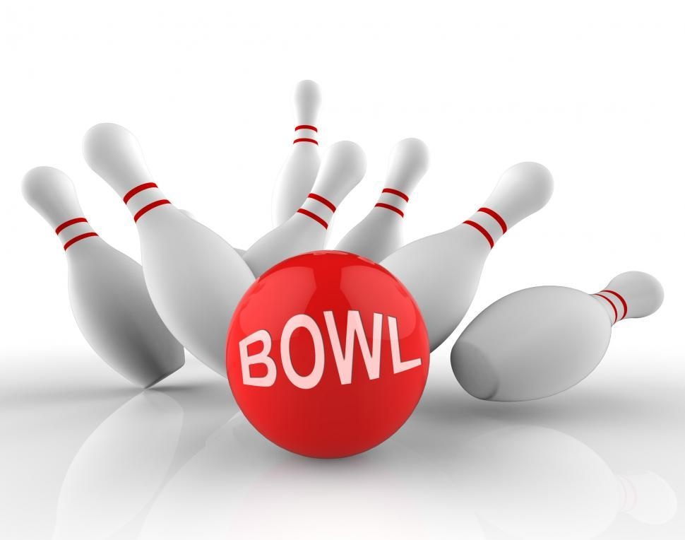 Download Free Stock Photo of Tenpin Bowling Represents Leisure Bowl 3d Rendering