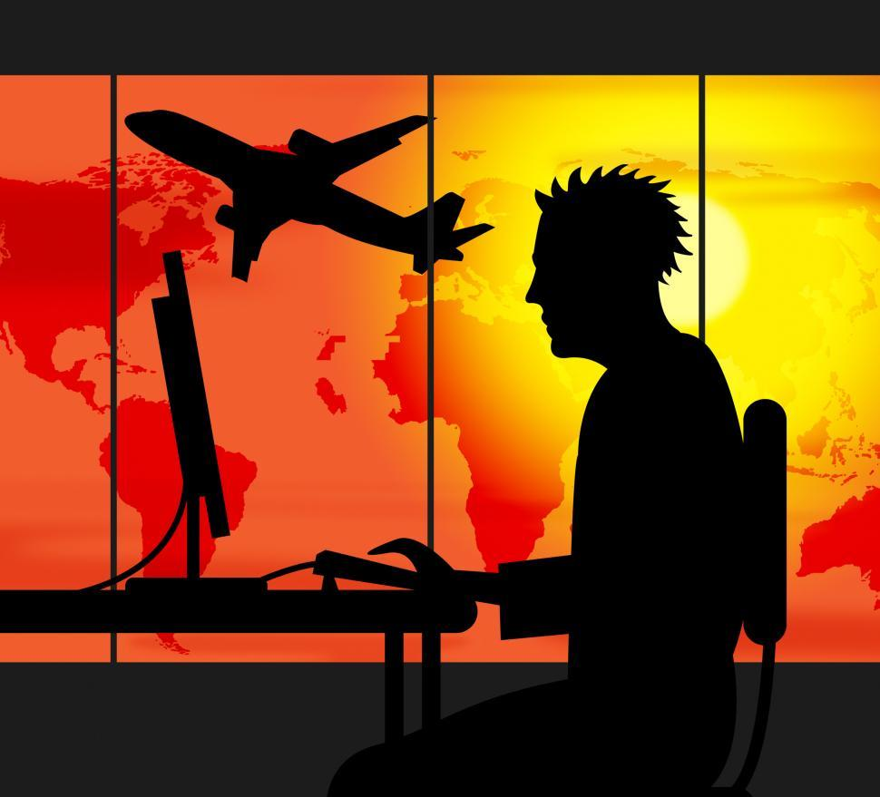 Download Free Stock Photo of Travel Agent Represents Travels Agency And International