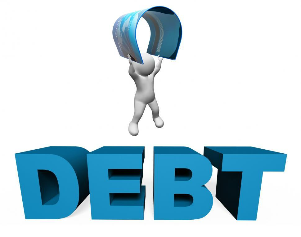 Download Free Stock HD Photo of Debt Credit Card Means Financial Obligation And Arrears 3d Rende Online