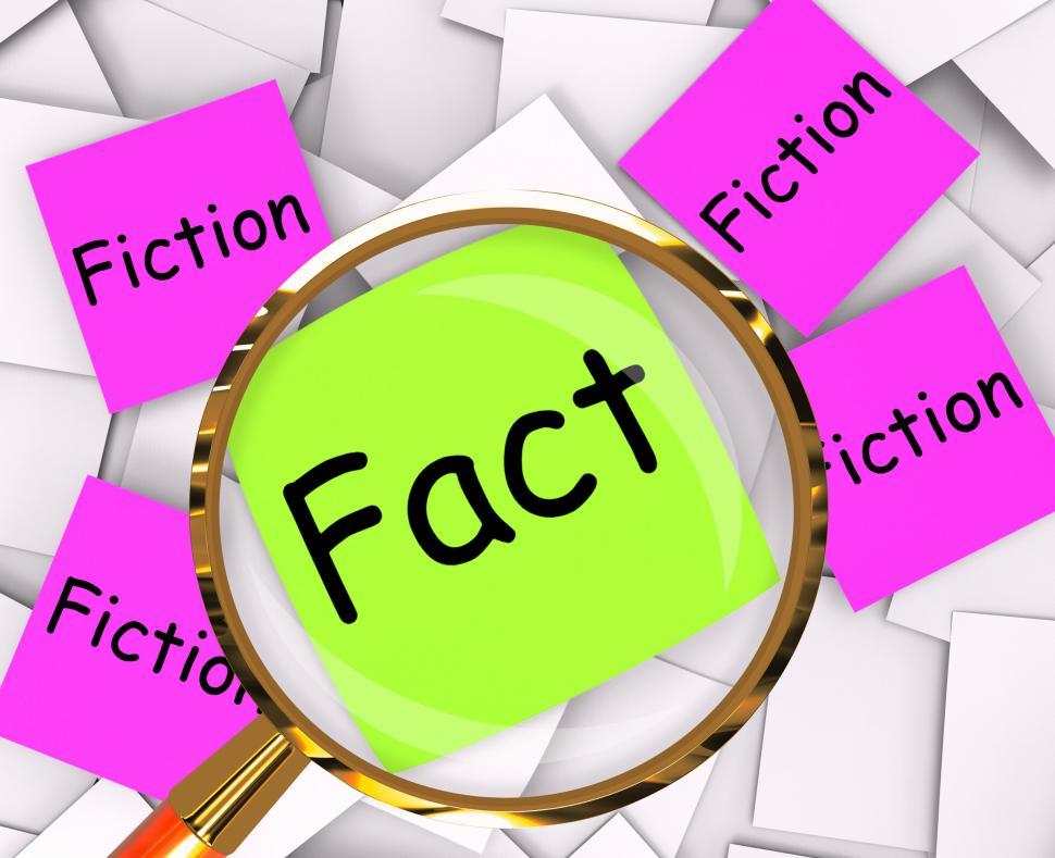 Download Free Stock HD Photo of Fact Fiction Post-It Papers Mean Truth Or Myth Online