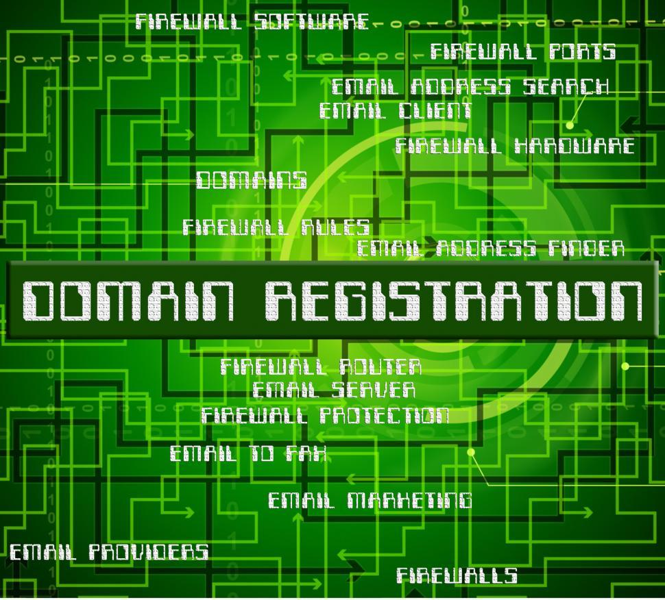 Download Free Stock HD Photo of Domain Registration Represents Sign Up And Admission Online