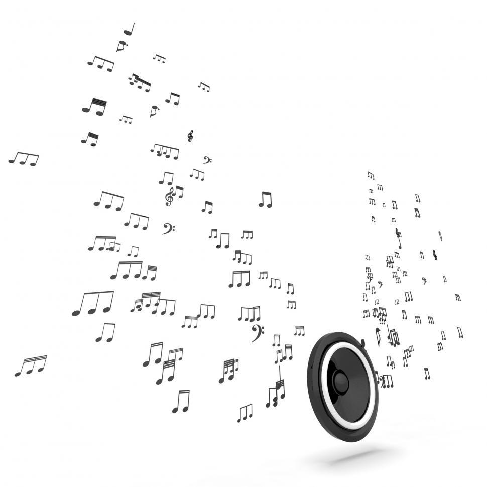 Download Free Stock HD Photo of Speaker And Musical Hi-fi Shows Music Audio Or Sound System Online