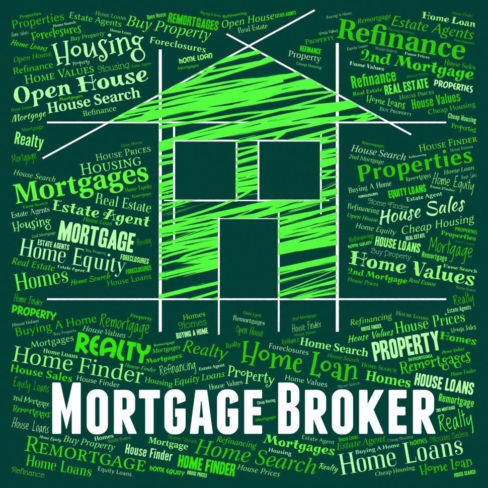 Download Free Stock HD Photo of Mortgage Broker Shows Home Loan And Borrow Online