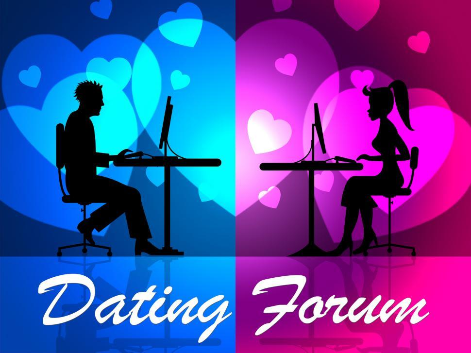 Download Free Stock Photo of Dating Forum Means Social Media And Community