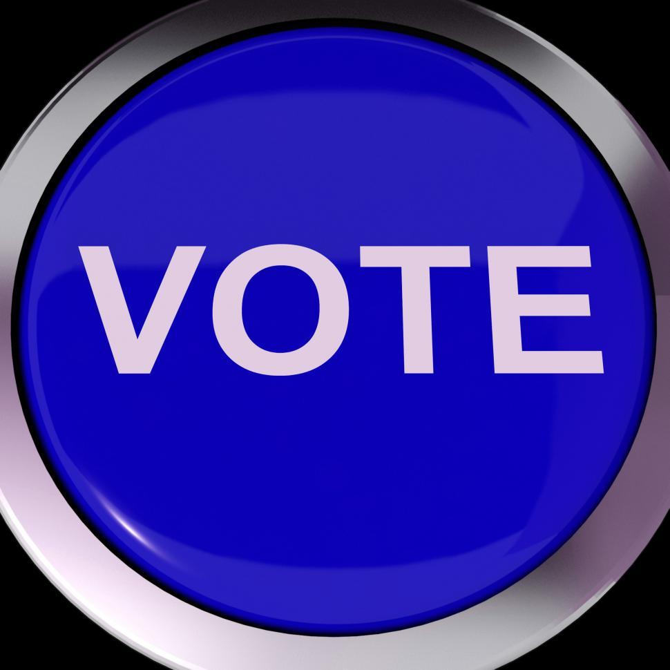 Download Free Stock Photo of Vote Button Shows Options Voting Or Choice