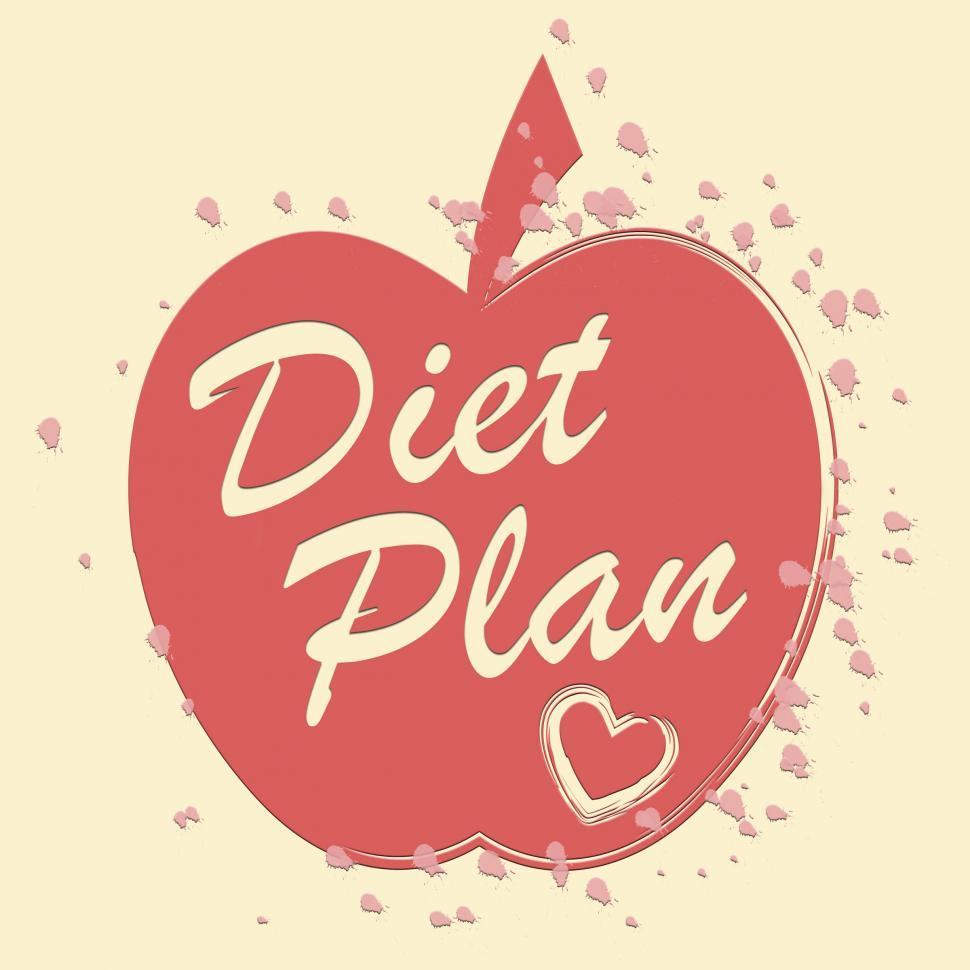 Download Free Stock HD Photo of Diet Plan Represents Lose Weight And Agenda Online