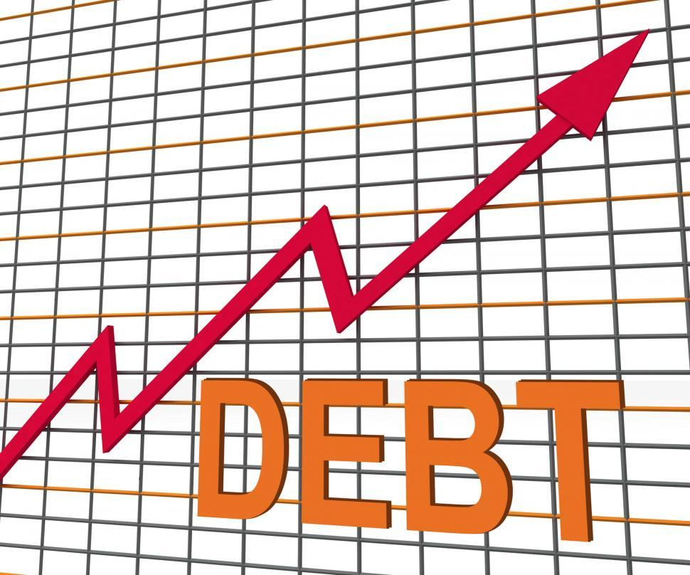 Download Free Stock Photo of Debt Graph Chart Shows Increase Financial Indebted