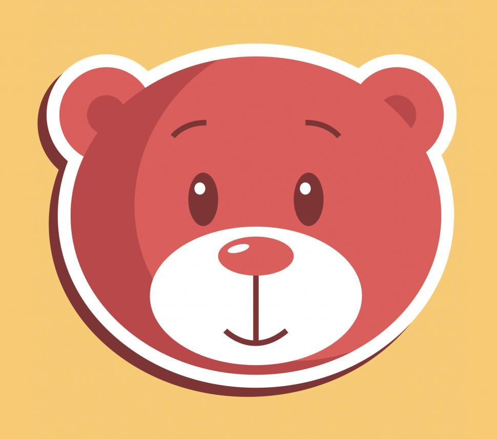Download Free Stock Photo of Teddy Bear Icon Indicates Stuffed Animal And Bears