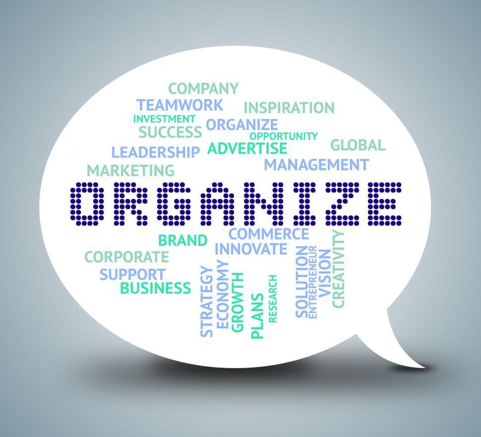 Download Free Stock HD Photo of Organize Bubble Indicates Management Organization And Manage Online