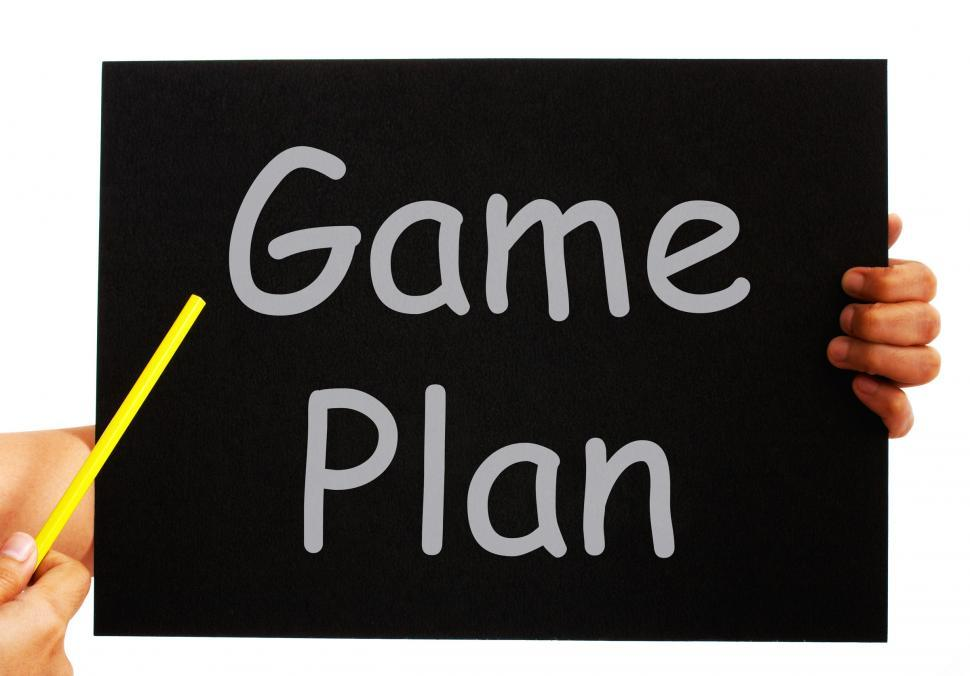 Download Free Stock HD Photo of Game Plan Blackboard Means Strategies And Tactics Online