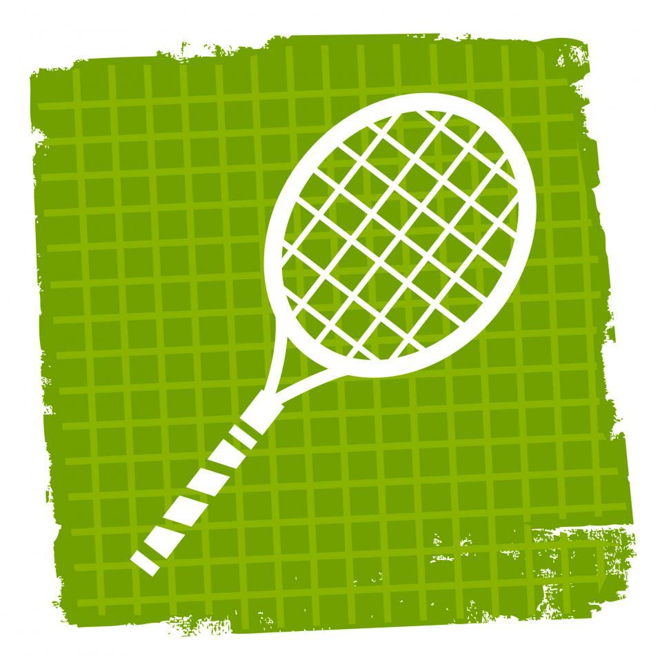 Download Free Stock Photo of Tennis Icon Indicates Sign Racquet And Symbol