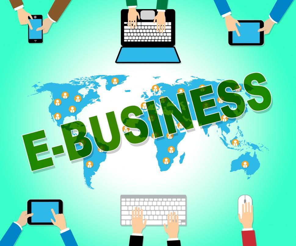 Download Free Stock HD Photo of Ebusiness Online Indicates Web Site And Commercial Online