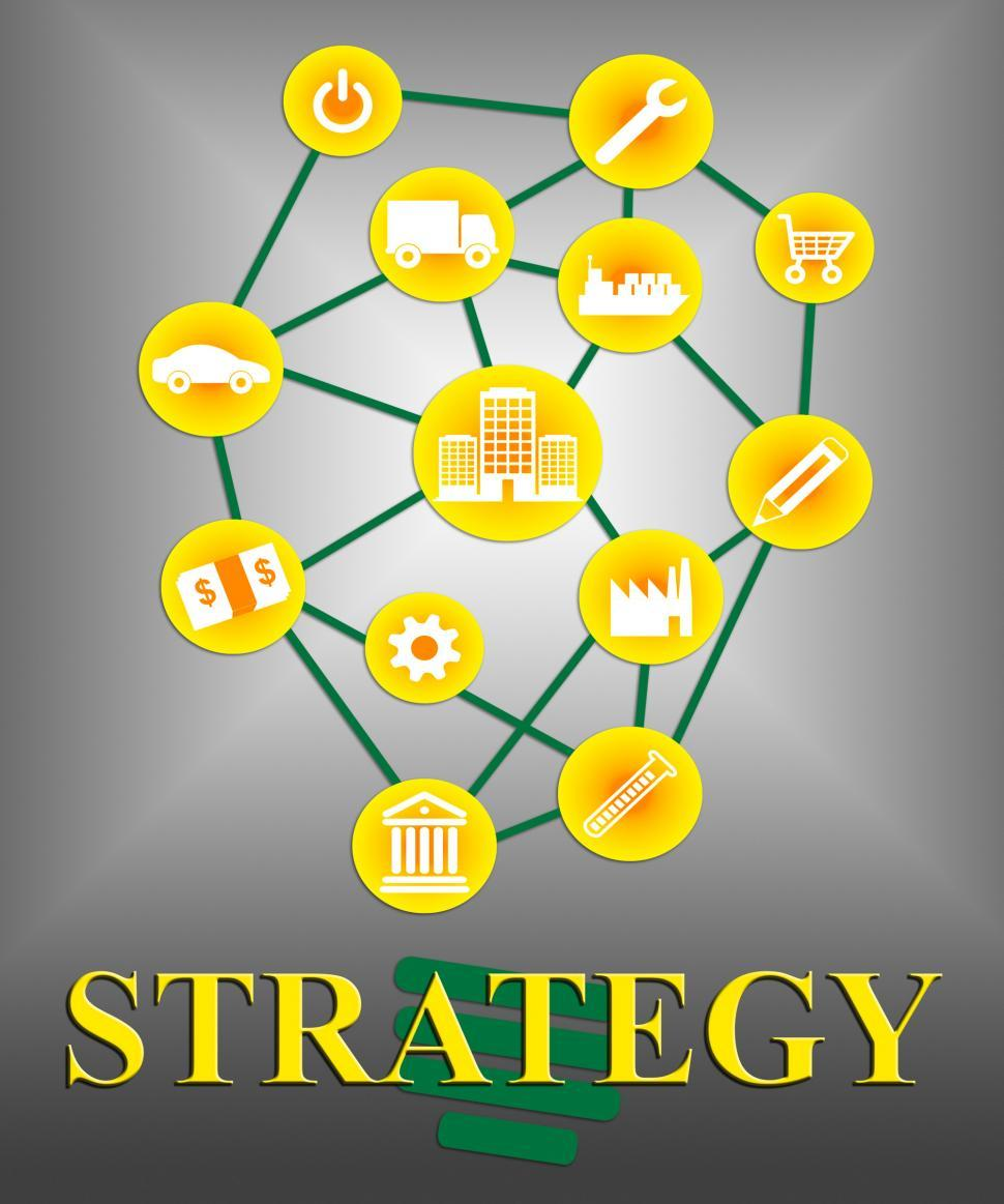 Download Free Stock HD Photo of Strategy Icons Means Tactics Tactic And Strategies Online