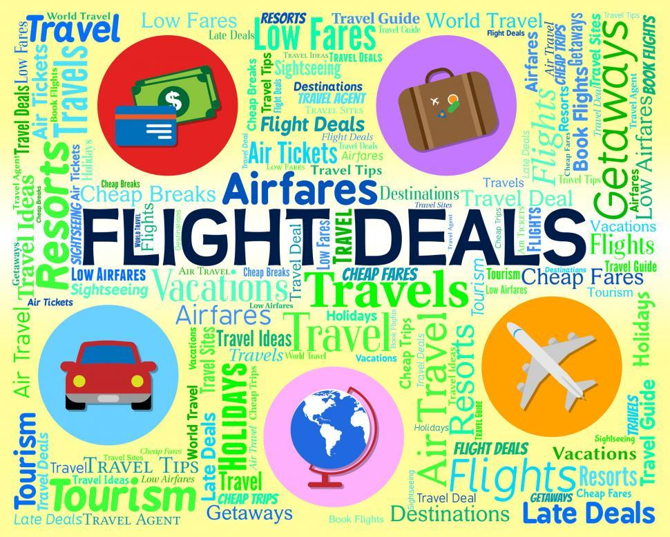 Download Free Stock HD Photo of Flight Deals Means Bargain Flights And Sale Online