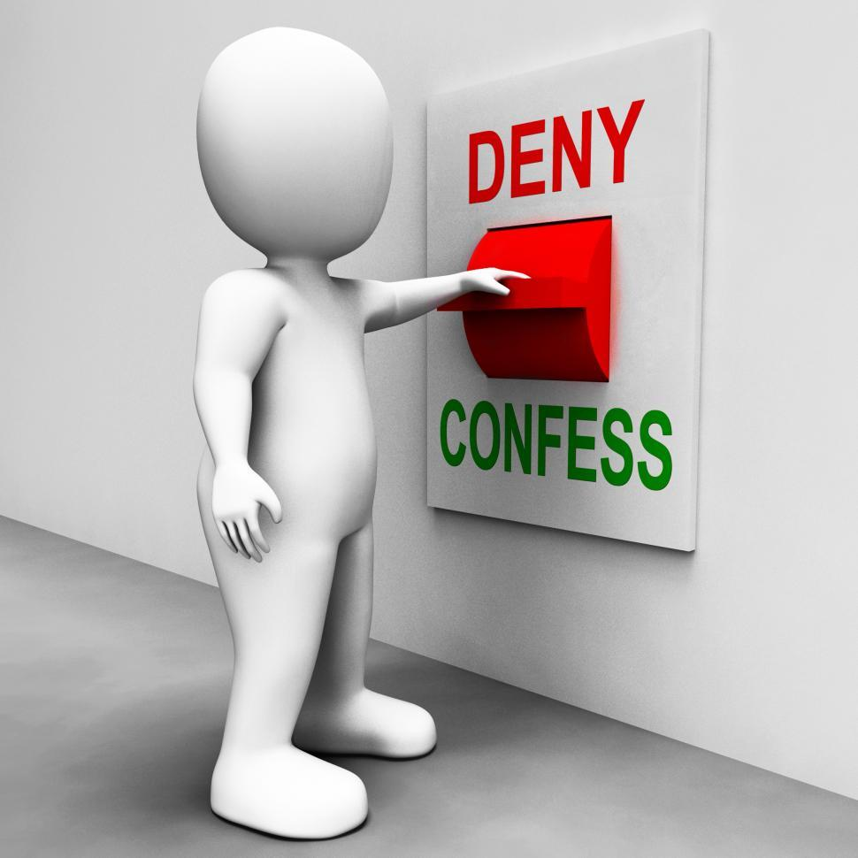Download Free Stock Photo of Confess Deny Switch Shows Confessing Or Denying Guilt Innocence