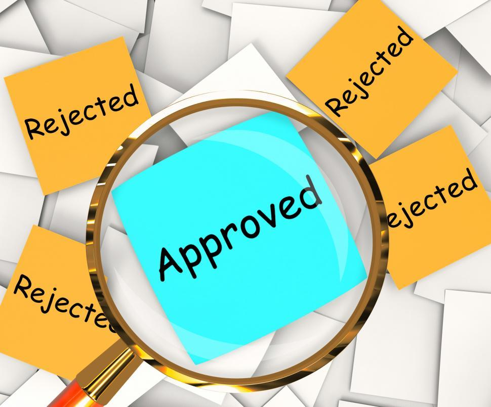 Download Free Stock HD Photo of Approved Rejected Post-It Papers Shows Accepted Or Refused Online