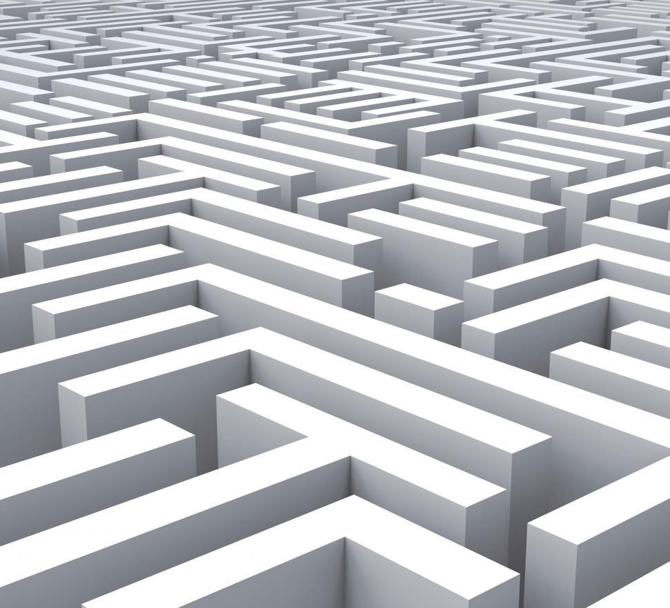 Download Free Stock Photo of Maze Shows Problem Or Complexity