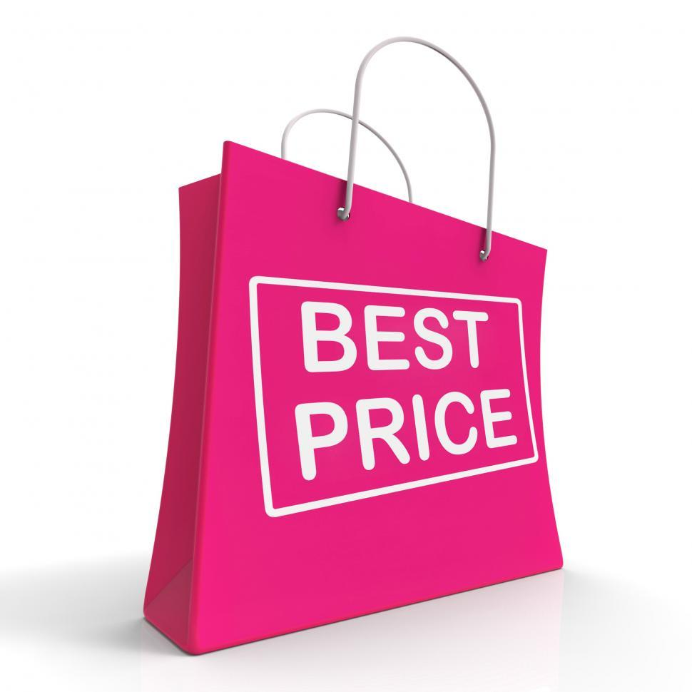 Download Free Stock HD Photo of Best Price On Shopping Bags Shows Bargains Sale And Save Online
